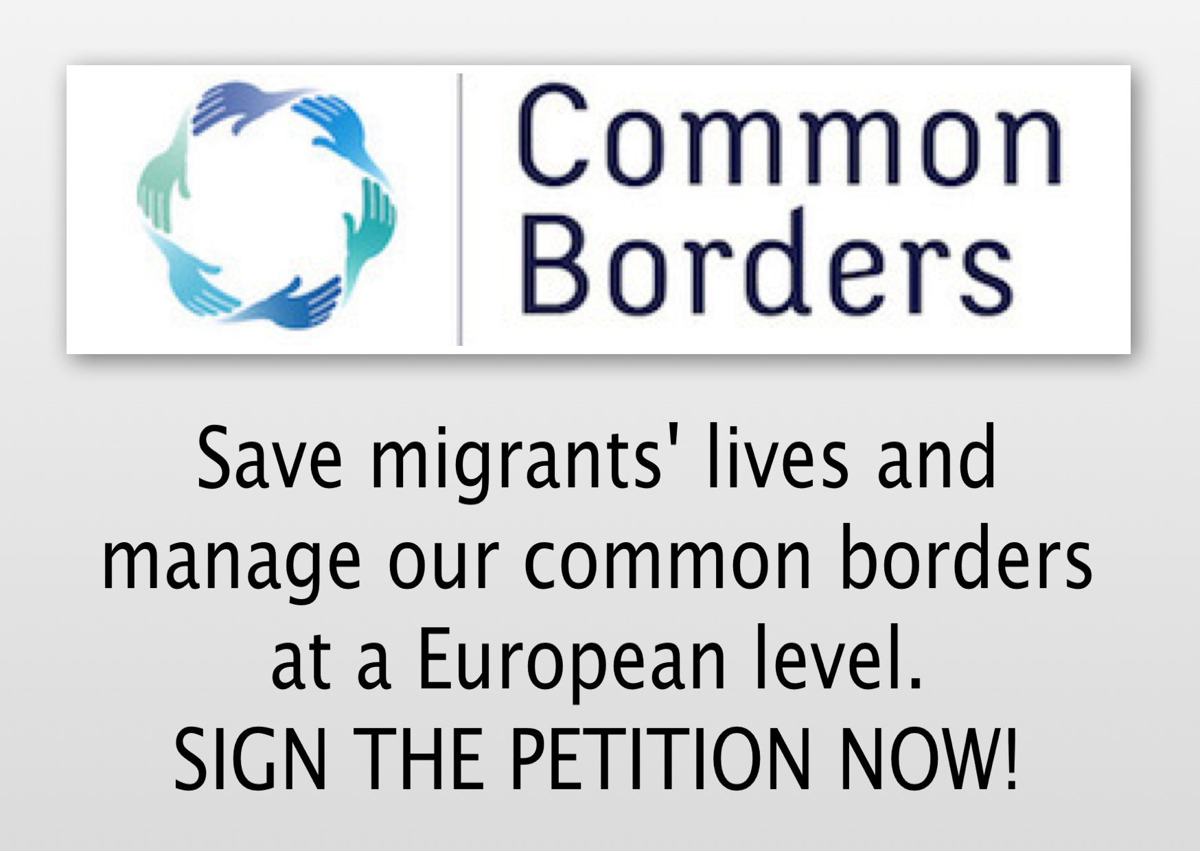 CommonBorders.eu - SIGN the Petition!