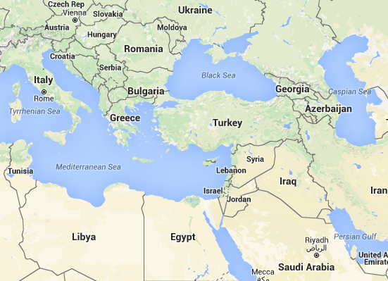 Eastern mediterranean from google maps nov 2015g tagged tunisia gumiabroncs Gallery