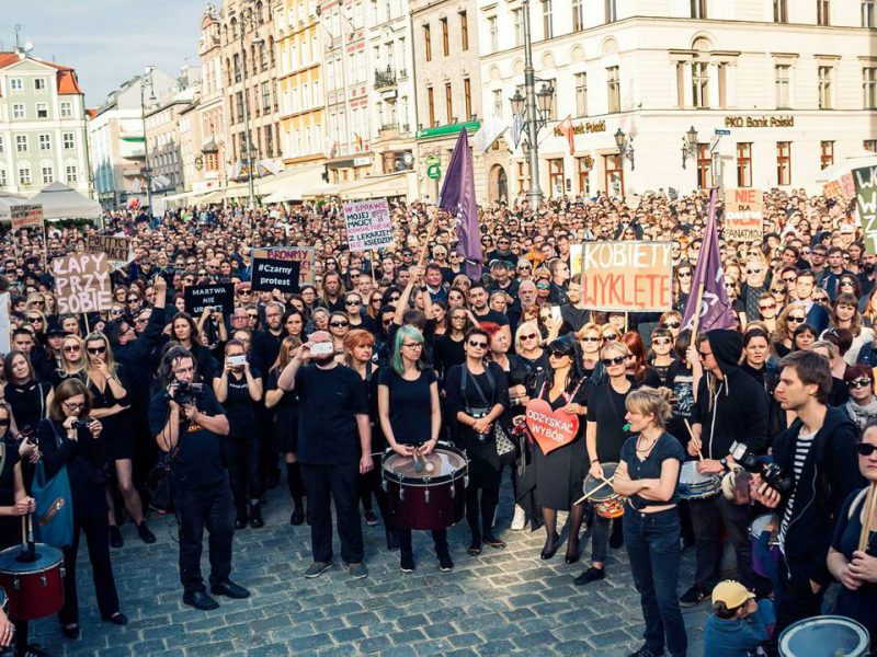 BlackProtest in Wroc?aw, Poland