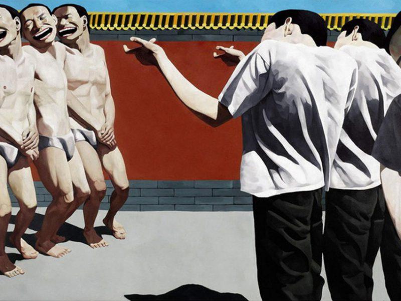 """Execution"" by Yue Minjun"