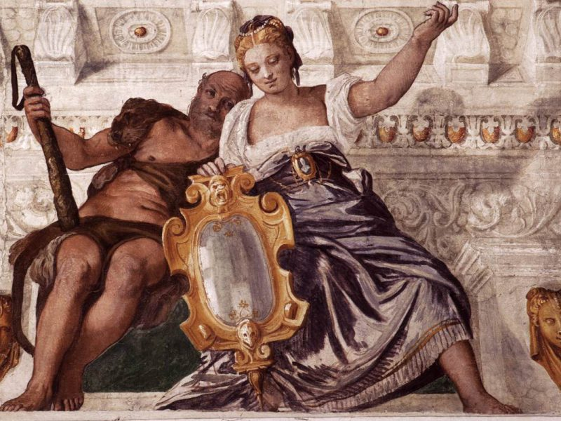 """Prudence and Manly Virtue"" (1561), a painting by Paolo Veronese"