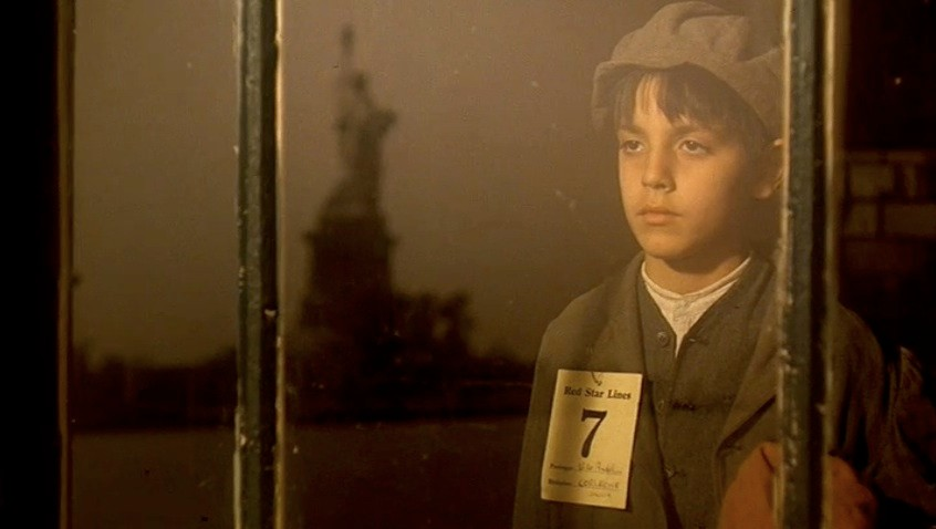 Statue of Liberty in a film still from 'The Godfather'