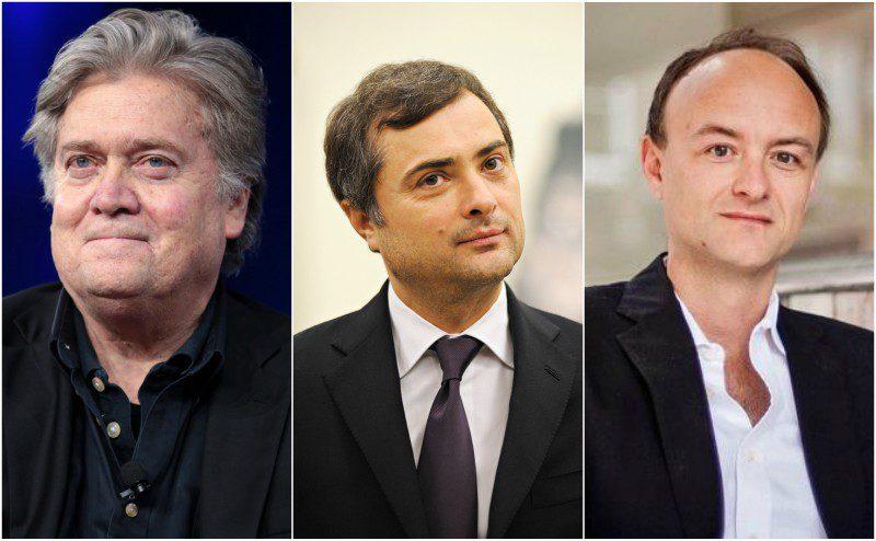 Steve Bannon, Vladislav Surkov, Dominic Cummings