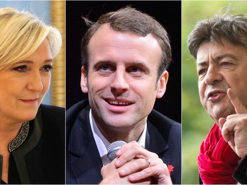 Marine Le Pen, Emmanuel Macron, Jean-Luc Mélenchon