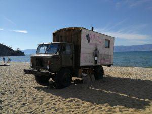 A truck sauna