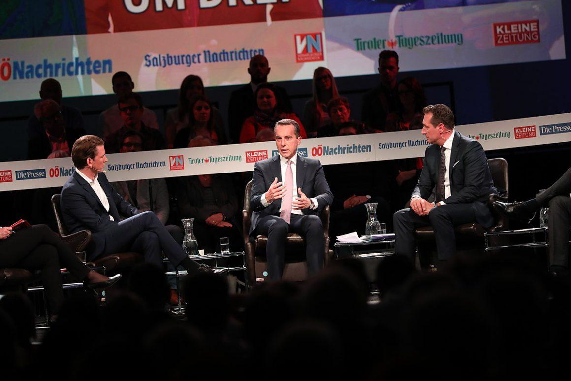 Sebastian Kurz (ÖVP), Christian Kern (SPÖ), Heinz-Christian Strache (FPÖ)