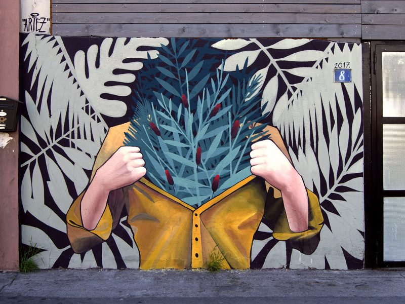"""Let it out"", a mural by Artez in Belgrade, Serbia"
