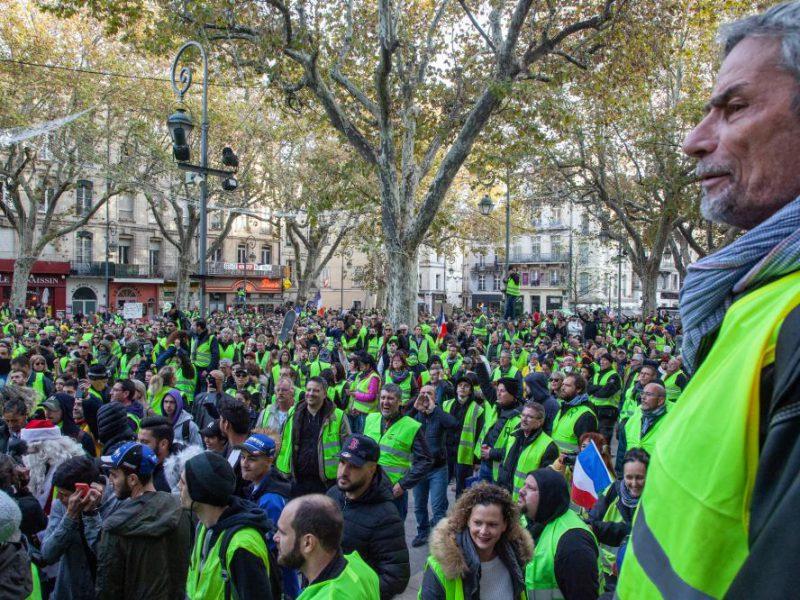 Gilets jaunes protest in Avignon