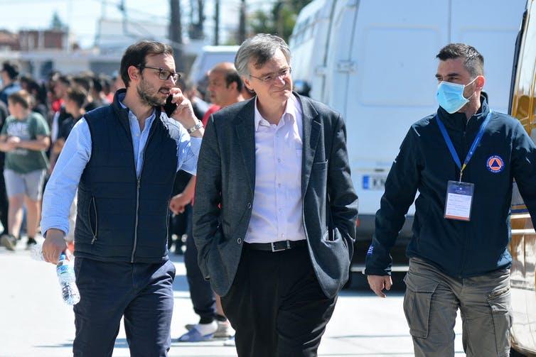 Sotiris Tsiodras has been a high-profile figure in the government's response. EPA/Apostolis Domalis