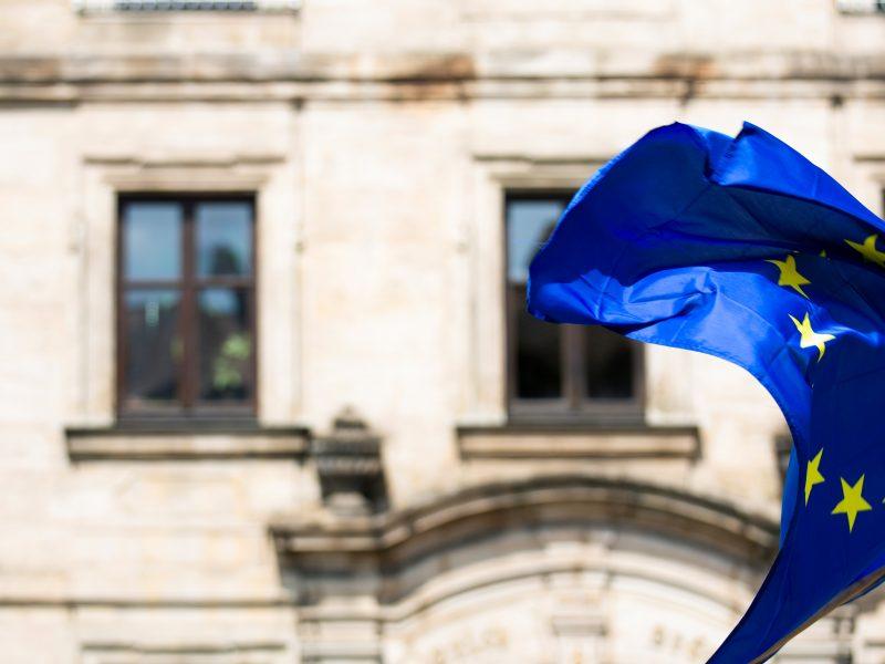 European Union Flag Waving