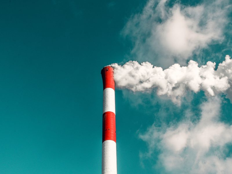 Industrial chimney illustrating Carbon Emissions