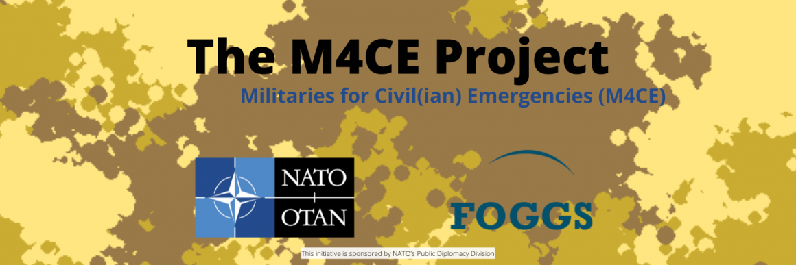 Militaries for Civil(ian) Emergencies banner and logo